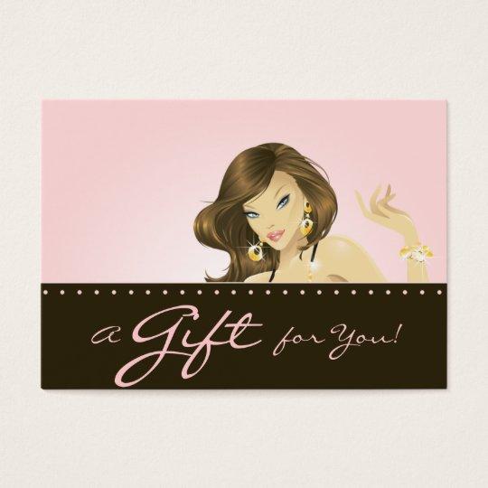 Make up Artist Gift Card Pretty Pink Woman