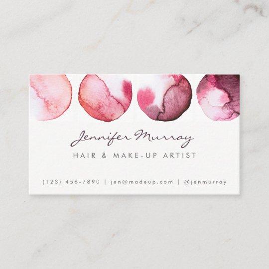 Make Up Artist Interior Designer Business Card