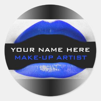 Make-Up Artist Labels Classic Round Sticker