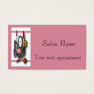 Make-up Artist Make-up Appointment Card Template