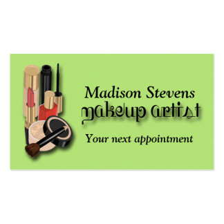 Make-up Artist, Make-up Appointment Card Template Business Card Template