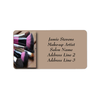 Make-up Artist, Make-up Brushes Address Labels