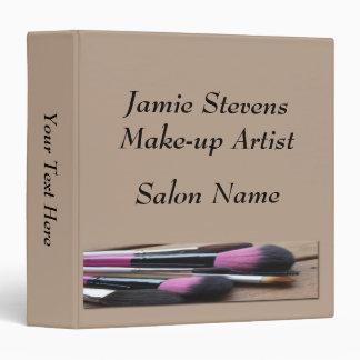 """Make-up Artist, Make-up Brushes Binder 1.5"""""""