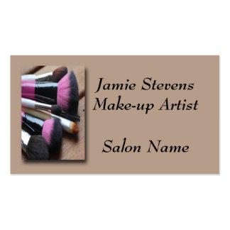 Make-up Artist, Make-up Brushes Business Card Temp