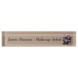 Make-up Artist, Make-up Brushes Desk Nameplate