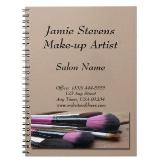 Make-up Artist, Make-up Brushes Spiral Notebook