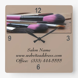 Make-up Artist, Make-up Brushes Wall Clock