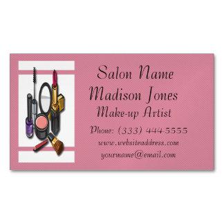 Make-up Artist Make-up Business Card Magnet