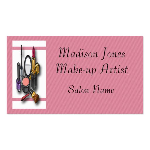 Make up artist make up business card template zazzle for Ups business cards templates