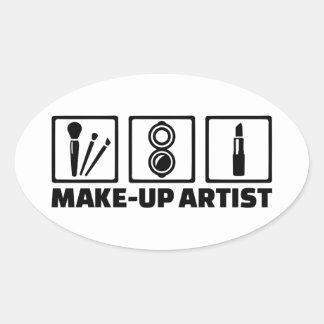 Make-up artist oval sticker