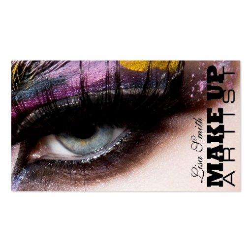 Make up Artist Plantilla De Tarjeta De Negocio
