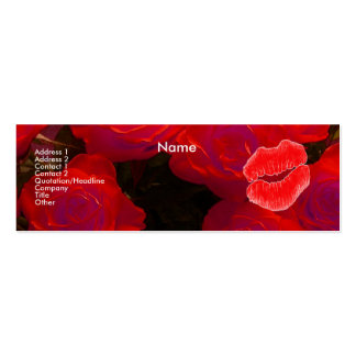 """""""Make-up Artist"""" Red Roses I Profile Card Business Card Templates"""