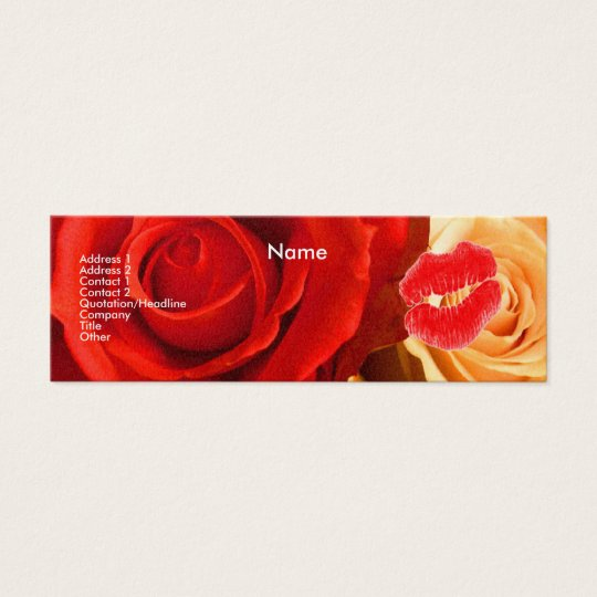 """Make-up Artist"" Red & Yellow Roses I Profile Card"