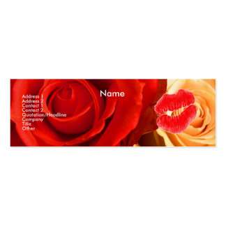 """""""Make-up Artist"""" Red & Yellow Roses I Profile Card Business Card Templates"""