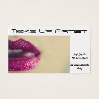 Make Up Artist/ Saloon Business Card