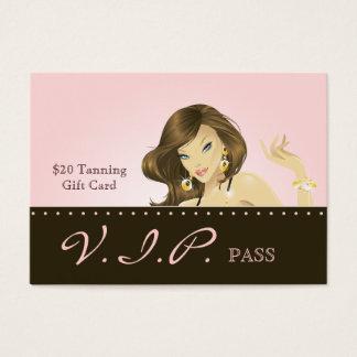 Make up Artist VIP Club Card Pretty Pink Woman