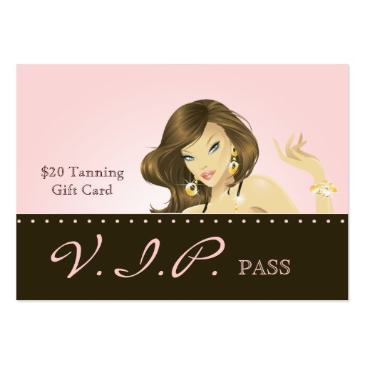 Make up Artist VIP Club Card Pretty Pink Woman Business Card Templates