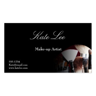 Make up brush business card