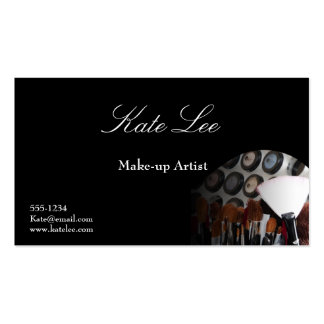 Make-up brush cosmetologist business cards