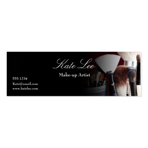 Make up brush mini cosmetologist business card zazzle for Business cards for cosmetologist