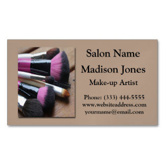 Make-up Brushes Business Card Magnets