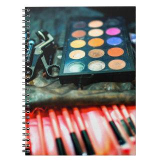Make-Up Brushes Spiral Notebook