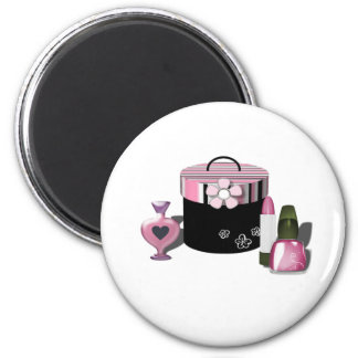 Make Up Cosmetics Girl 2 Inch Round Magnet