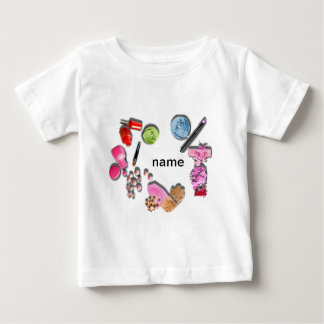 Make Up Girl  customize cosmetics Baby T-Shirt