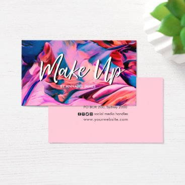 Professional Business Make Up Painted Make Up business card