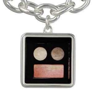 364b4992877e7 Make-Up Palette-Face by Shirley Taylor Charm Bracelet