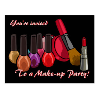 Make-up Party Invite Postcard