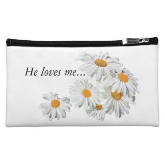make-up sporran with: he loves me, he loves me not makeup bags