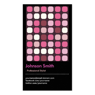 Make-Up Stylist - Pink Polk Dots Pattern Double-Sided Standard Business Cards (Pack Of 100)