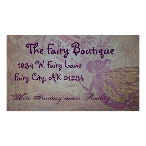 Make ur own fairy card Double Sided standard business