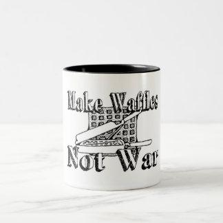 MAKE WAFFLES Not War Coffee Mug
