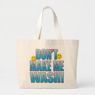 Make Wash Life B Large Tote Bag