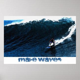 Make Waves Big Kahuna 36 x 24 Poster