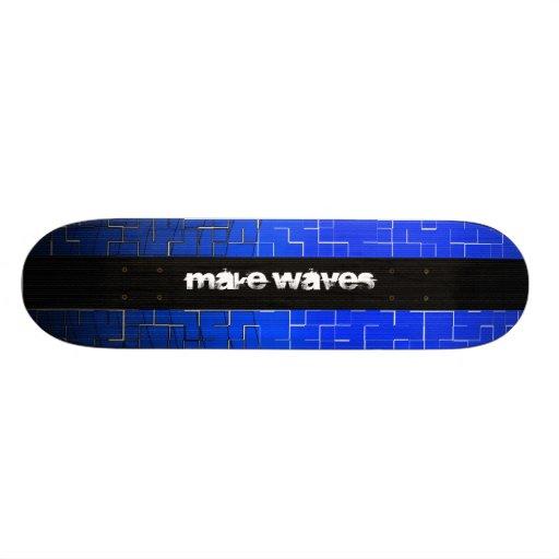 Make Waves Blue Stinger Skateboard