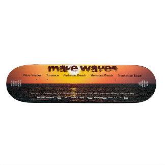 Make Waves Ltd. and Numbered South Bay Sidewalk Su Skateboard Deck