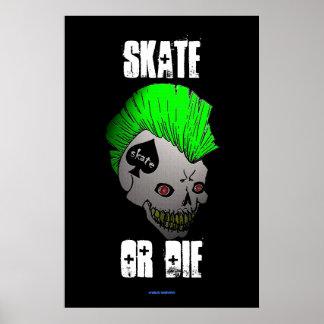 Make Waves Skate or Die 36 x 24 Poster