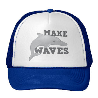 MAKE WAVES with dolphin Trucker Hat