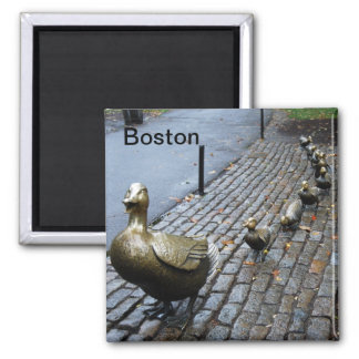 Make Way for Ducklings 2 Inch Square Magnet