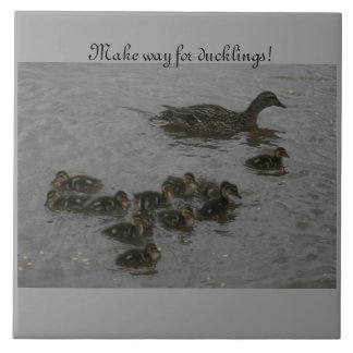 Make Way for ducklings! Large Square Tile