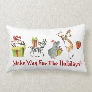 Make Way for the Holidays Lumbar Pillow