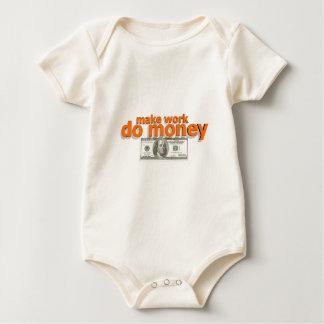 Make work do money baby bodysuit
