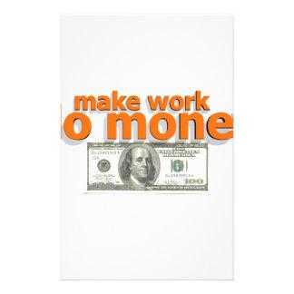 Make work do money stationery