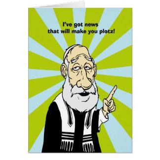Make you plotz greeting card