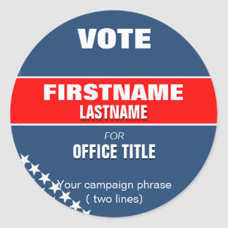 Make your campaign Round Sticker