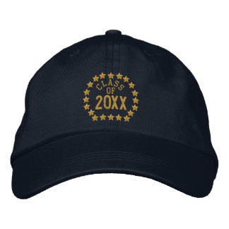Make your Class Of Your Year Stars Embroidered Embroidered Hat