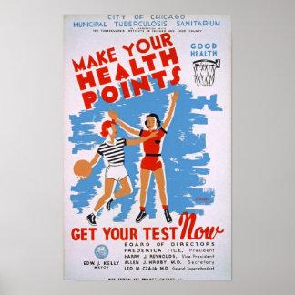 Make Your Health Points Vintage Poster
